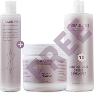 Formula18 Hair Lightening System maintains the integrity of the hair